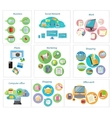 Business banners with item icons vector