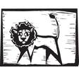 Lion print vector