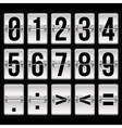Silver timetable numbers vector