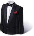 Tuxedo and bow stylish suit vector