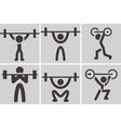 Weightlifting icons vector