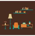 Furniture set over brown vector