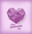 Vintage valentines day with geometrical heart vector