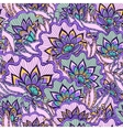 Spring pattern with violet handdrawn flowers vector