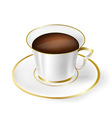 White cup with black coffee vector