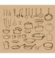 Kitchen tool collection - silhouette vector