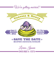 Wedding invitation card - dessert cake theme vector
