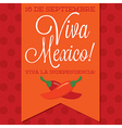Retro style viva mexico mexican independence day vector