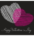 Two valentines hearts  valentines day  day vector