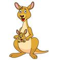 Funny kangaroo cartoon vector
