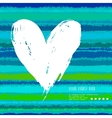 Card with hand drawn heart on striped background vector
