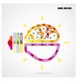 Creative light bulb concept with business idea bac vector