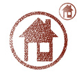House simple single color icon isolated on white vector