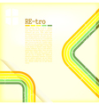 Retro copyspace background vector