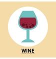 Wine cup vector