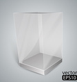 Black glass rectangle box vector