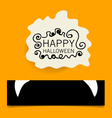 Cute note papers happy halloween design background vector