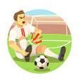 Injured soccer player vector