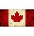 Canadian flag grunge background vector