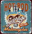 Hotrod motorcycles garage crack vector