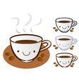 Different styles of coffee cup sets vector