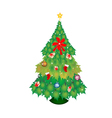 Christmas tree of green maple with christmas vector