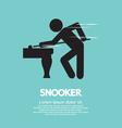 Snooker player vector