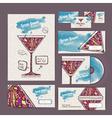 Cocktail concept design corporate identity vector