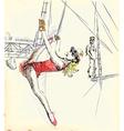 Gymnastics and circus show vector