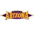 Arizona the grand canyon state vector