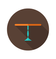 Table flat icon over brown vector