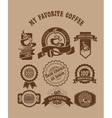 Vintage retro coffee badges vector