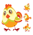 Cute little chick vector