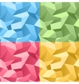 Colored seamless 3d crumpled background vector