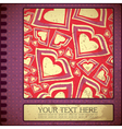 Grunge card with hearts vector