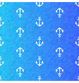 Seamless blue pattern with white anchors vector