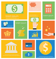 Icon finance banking vector
