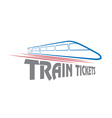 Train tickets design template vector