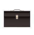 Retro black leather briefcase vector