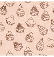 Seamless cupcake background vector