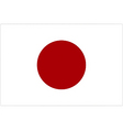 Japanese flag vector