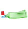 A toothpaste in a tube vector