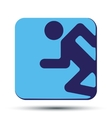 Flat icon with symbol running people vector