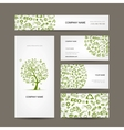 Business cards design green ecology concept vector