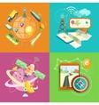 Mobile gps navigation travel and tourism vector