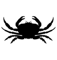 Crab silhouette vector