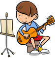 Boy with guitar cartoon vector