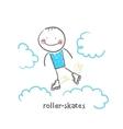 Roller-skates vector