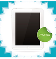 White glossy tablet pad vector