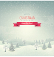Holiday christmas background with winter landscape vector